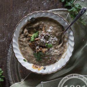 Грибной суп-пюре с гречкой