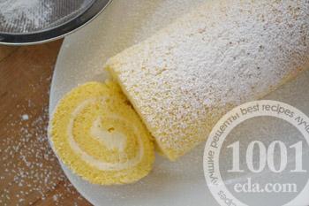 Рулет с маково-лимонной начинкой – кулинарный рецепт