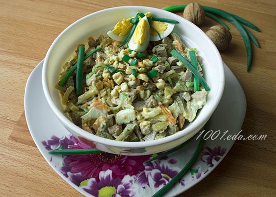 Салат с языком и луком пореем – кулинарный рецепт