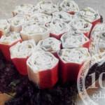 Крабовые рулетики с начинкой: рецепт с пошаговым фото