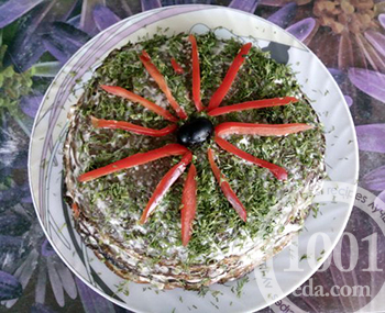 Рецепт торта из телячьей печени на праздник