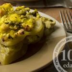 Картофель, запеченный с брынзой и зеленью: рецепт с пошаговым фото