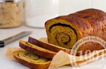 Тыквенный хлеб-рулет