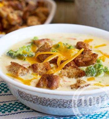 Быстрый сырный суп с брокколи