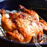 Цыплята в духовке, фаршированные овощами и грибами