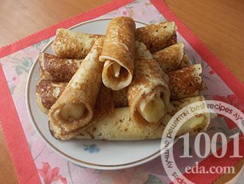Рецепт блинов с бананами