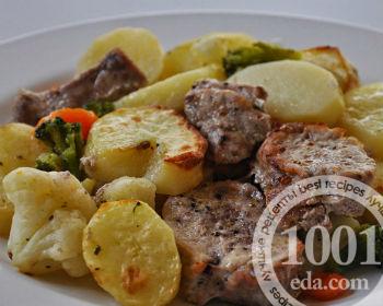 простой рецепт картошки с сосисками в духовке