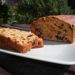Постный пирог с сухофруктами