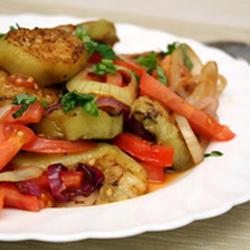 Постный салат из кабачков Кашемир
