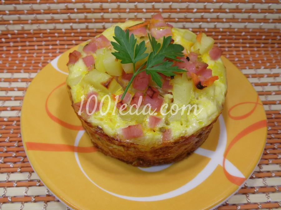 Картофельная запеканка с ветчиной: пошаговое фото