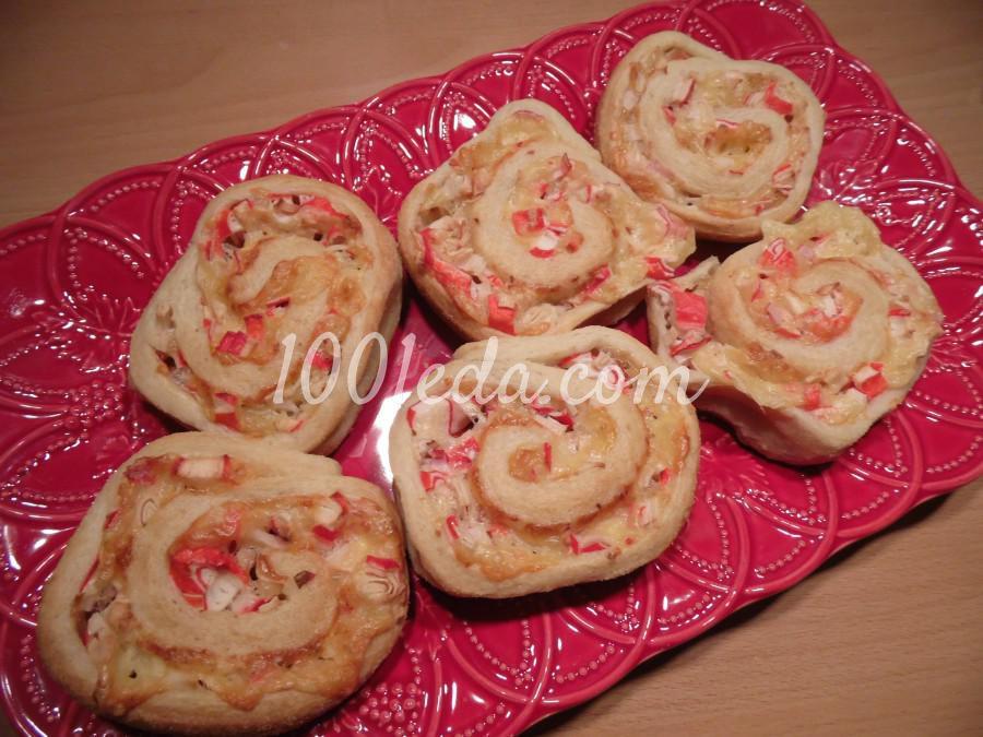Слоеное тесто с крабовыми палочками