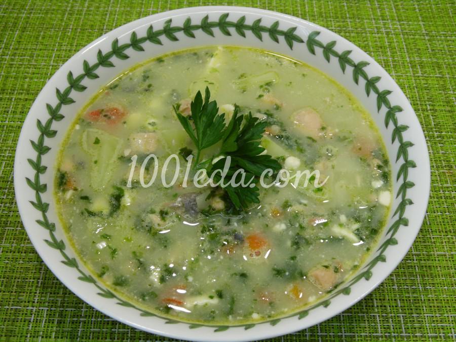 Суп рыбный с сыром и шпинатом: пошаговый с фото