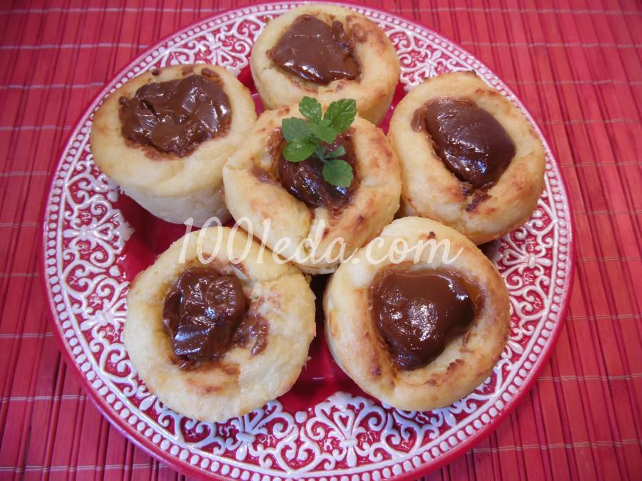 Сырники-кексы с вареной сгущенкой