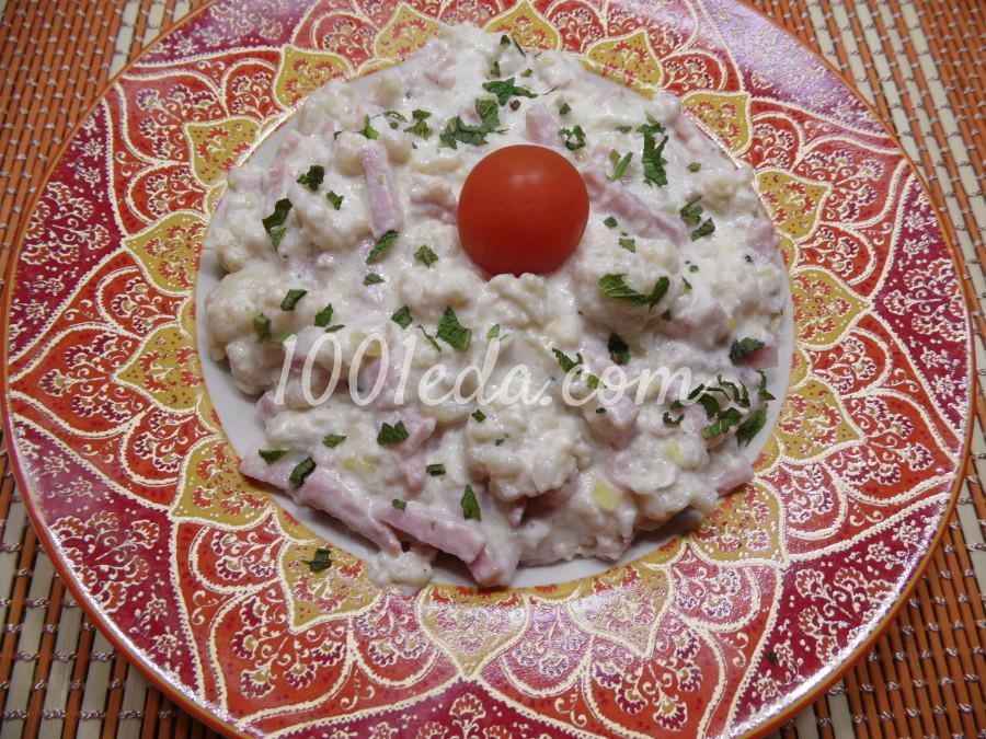 Цветная капуста с ветчиной в сливочно-сырном соусе: рецепт с пошаговым фото