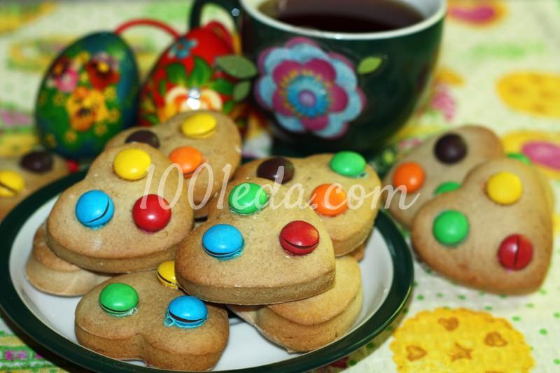 Банановое печенье с шоколадными драже: рецепт с пошаговыми фото
