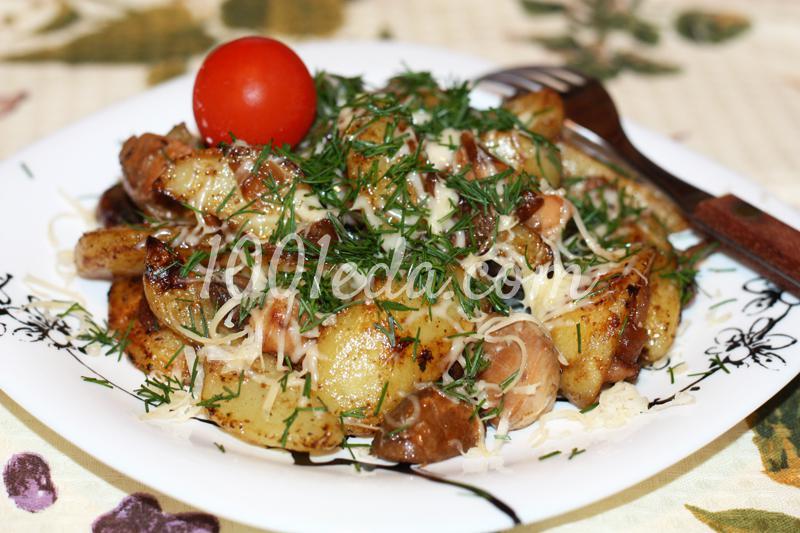 Свинина отбивная с грибами, помидорами и сыром (фото-рецепт)