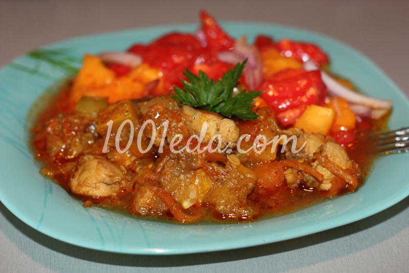 Овощное рагу-карри с куриной грудкой