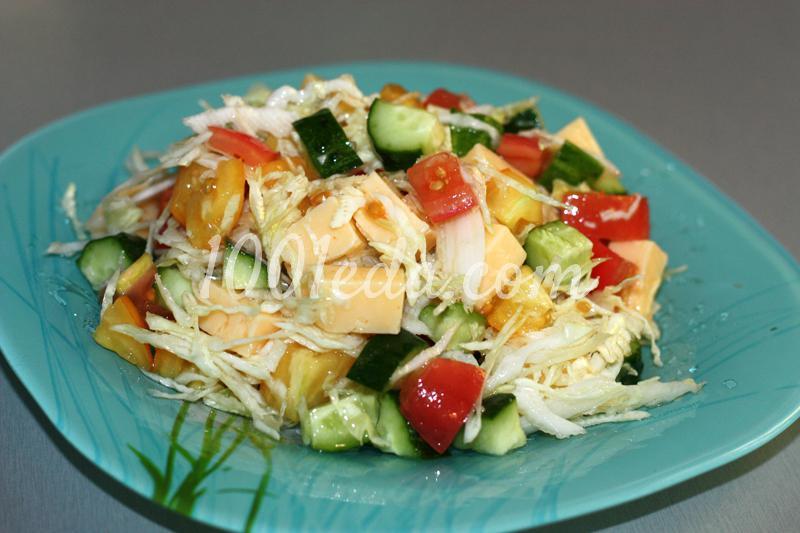 Овощные салаты с сыром рецепты с