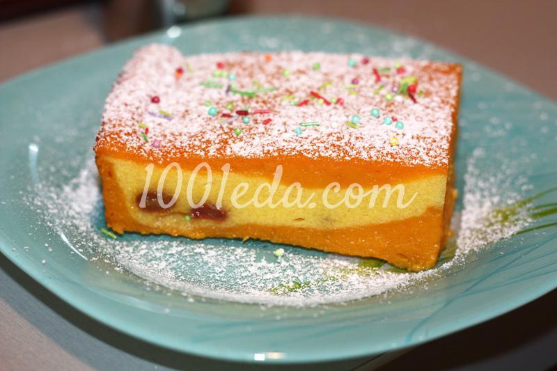 Нежный тыквенный пирог с творогом
