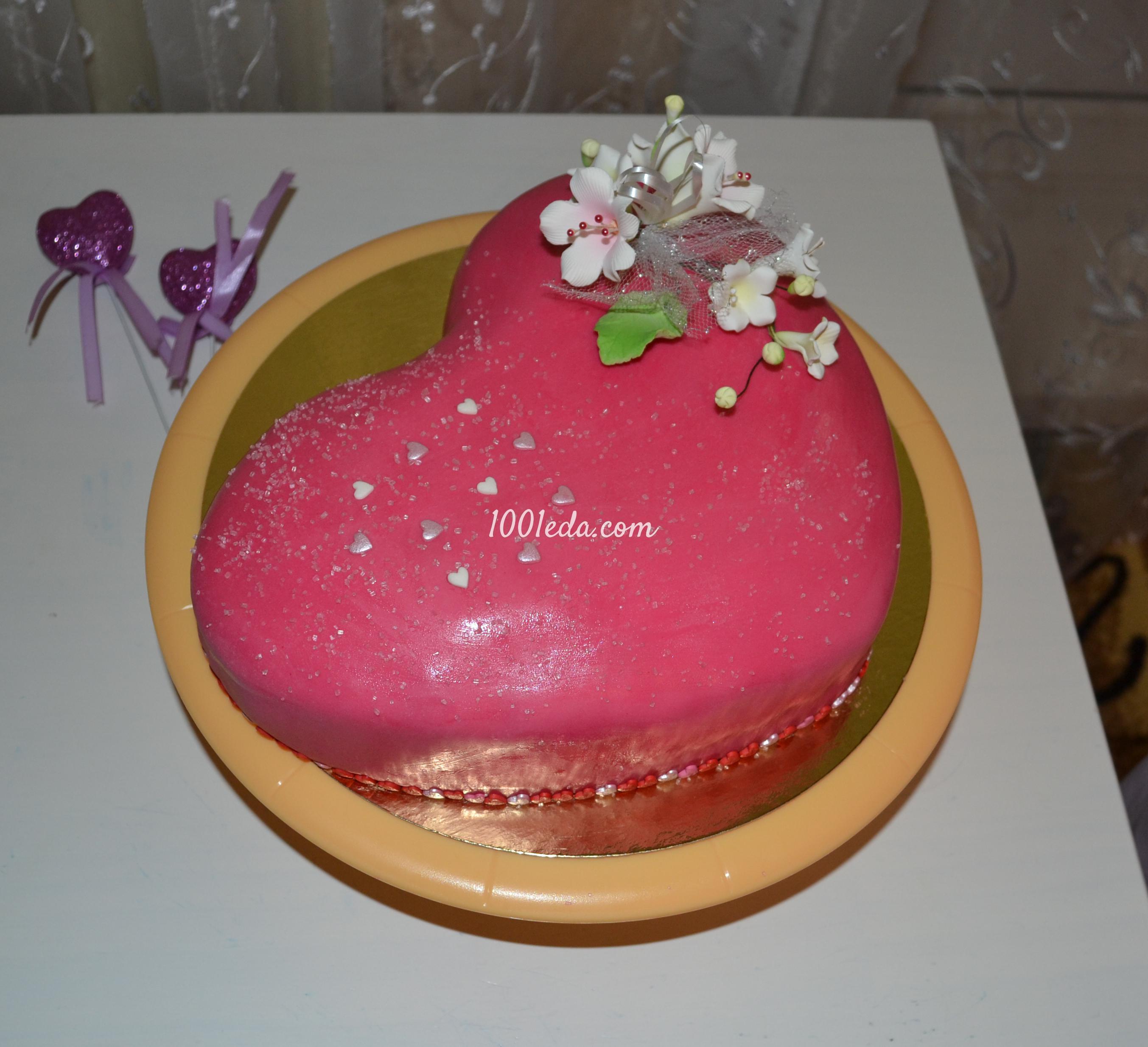 торт в форме сердца для девушки рецепт