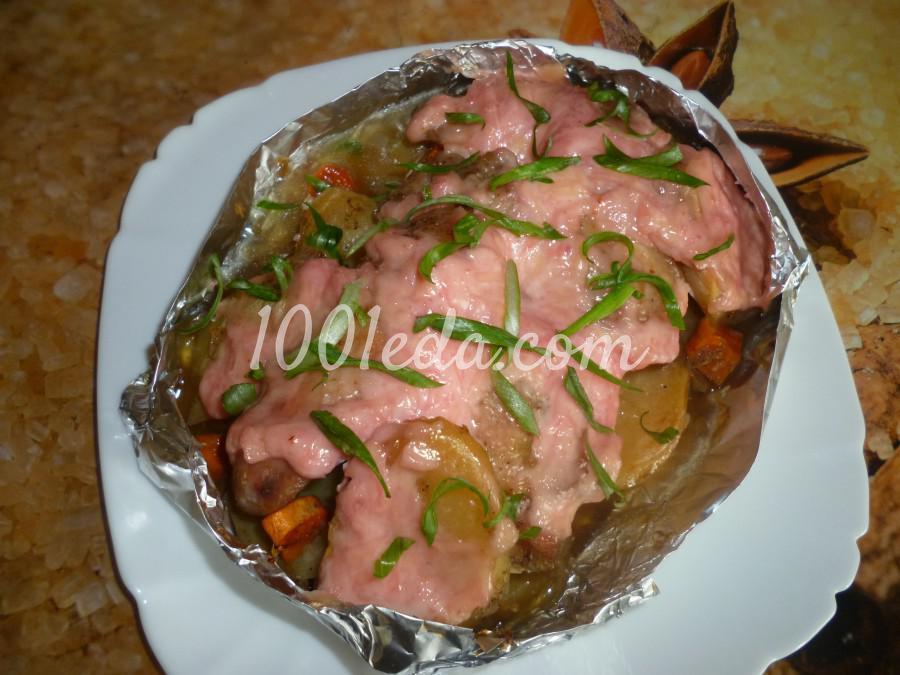 Картошка с куриными крылышками под розовой шубкой в духовке: рецепт с пошаговым фото