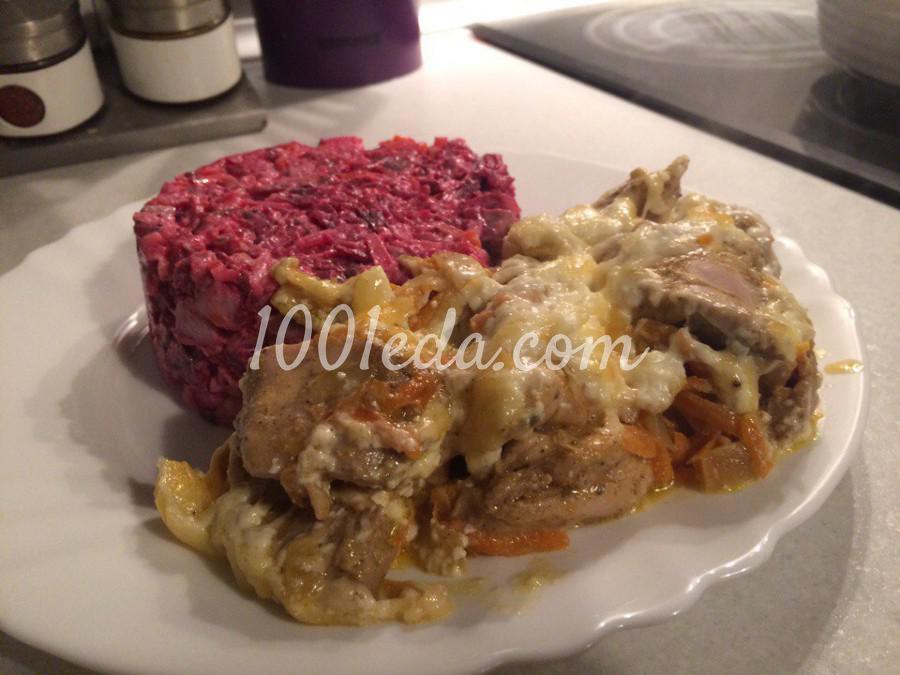 курица запеченная с овощами рецепты
