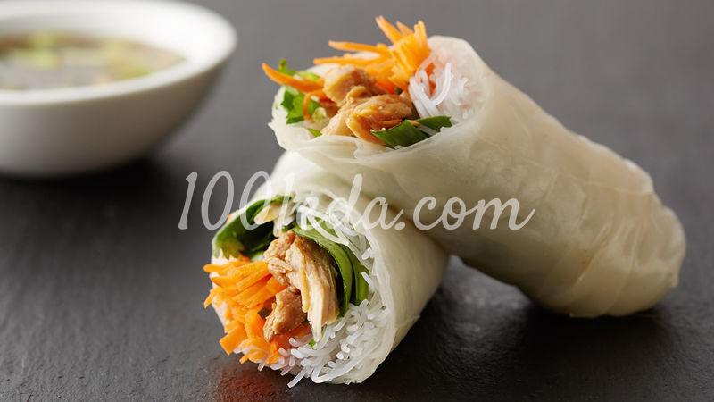 Роллы весенние из рисовой бумаги простейшие кулинарные пошаговые рецепты