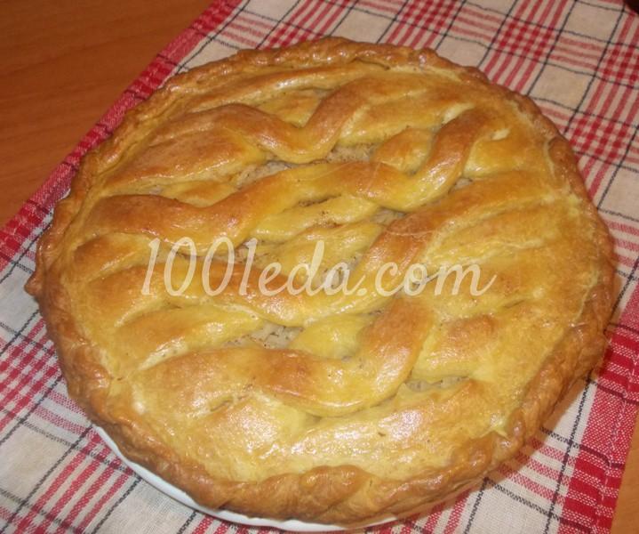 Пирог постный с капустой