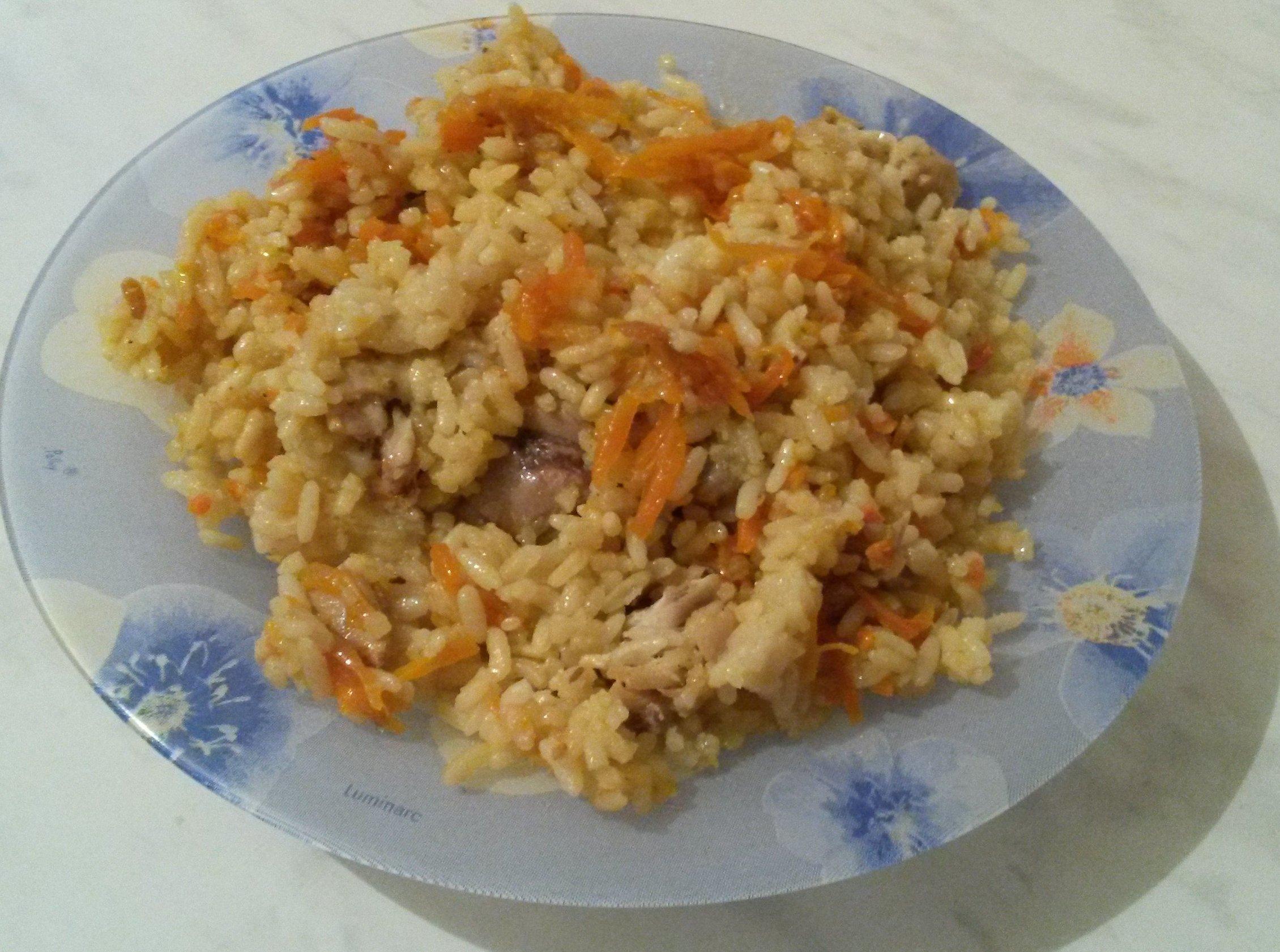Плов с курицей на сковороде рецепт с пошагово в домашних