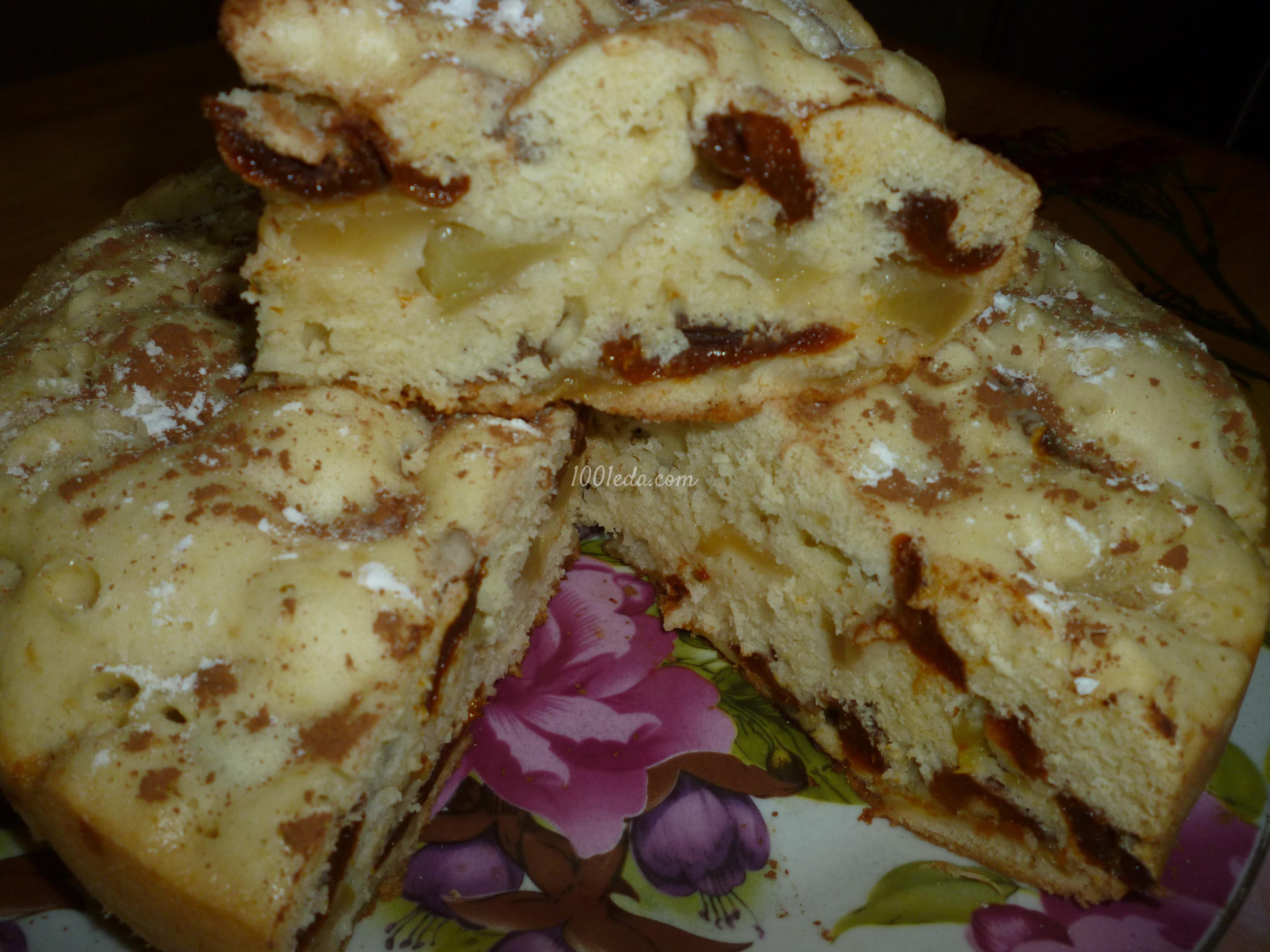 Пирог домашний с яблоками