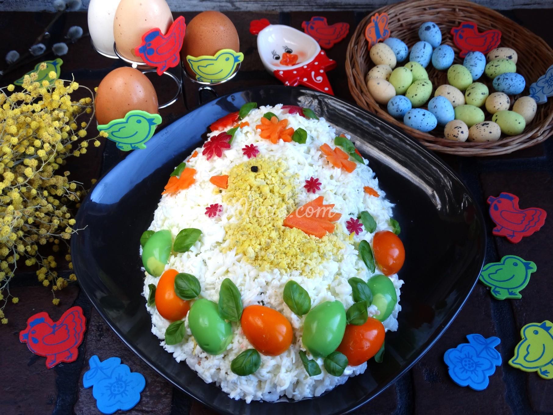 Рецепт салата с курицей и яйцом