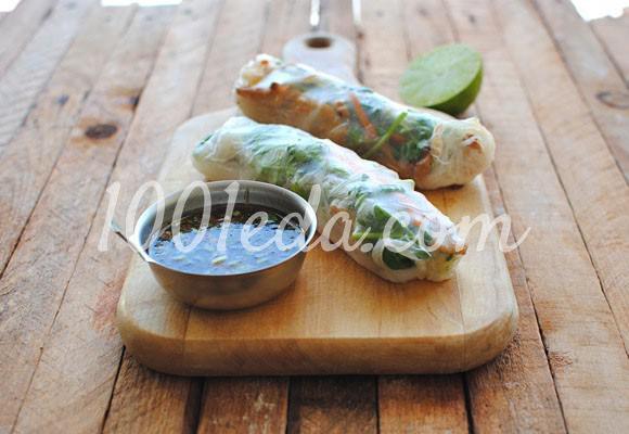 Спринг-роллы с курицей и чесноком: рецепт с пошаговым фото
