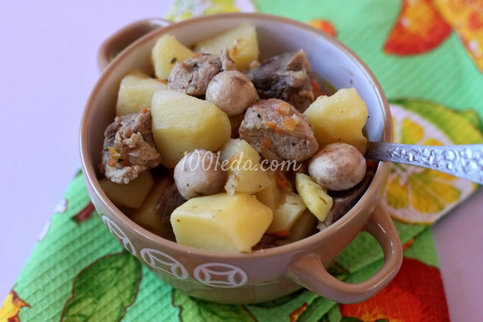 Картошка с мясом с пошаговым 4