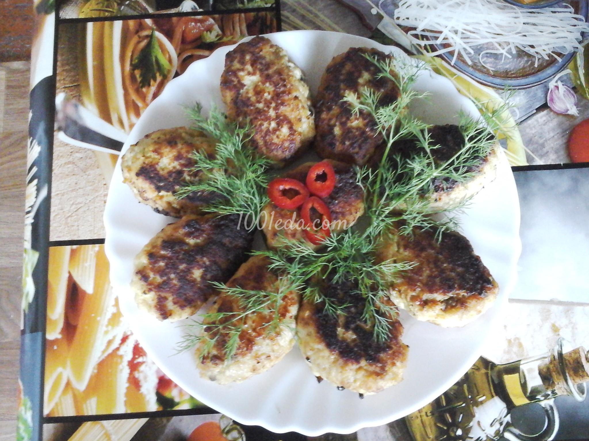 Котлеты с грибной начинкой