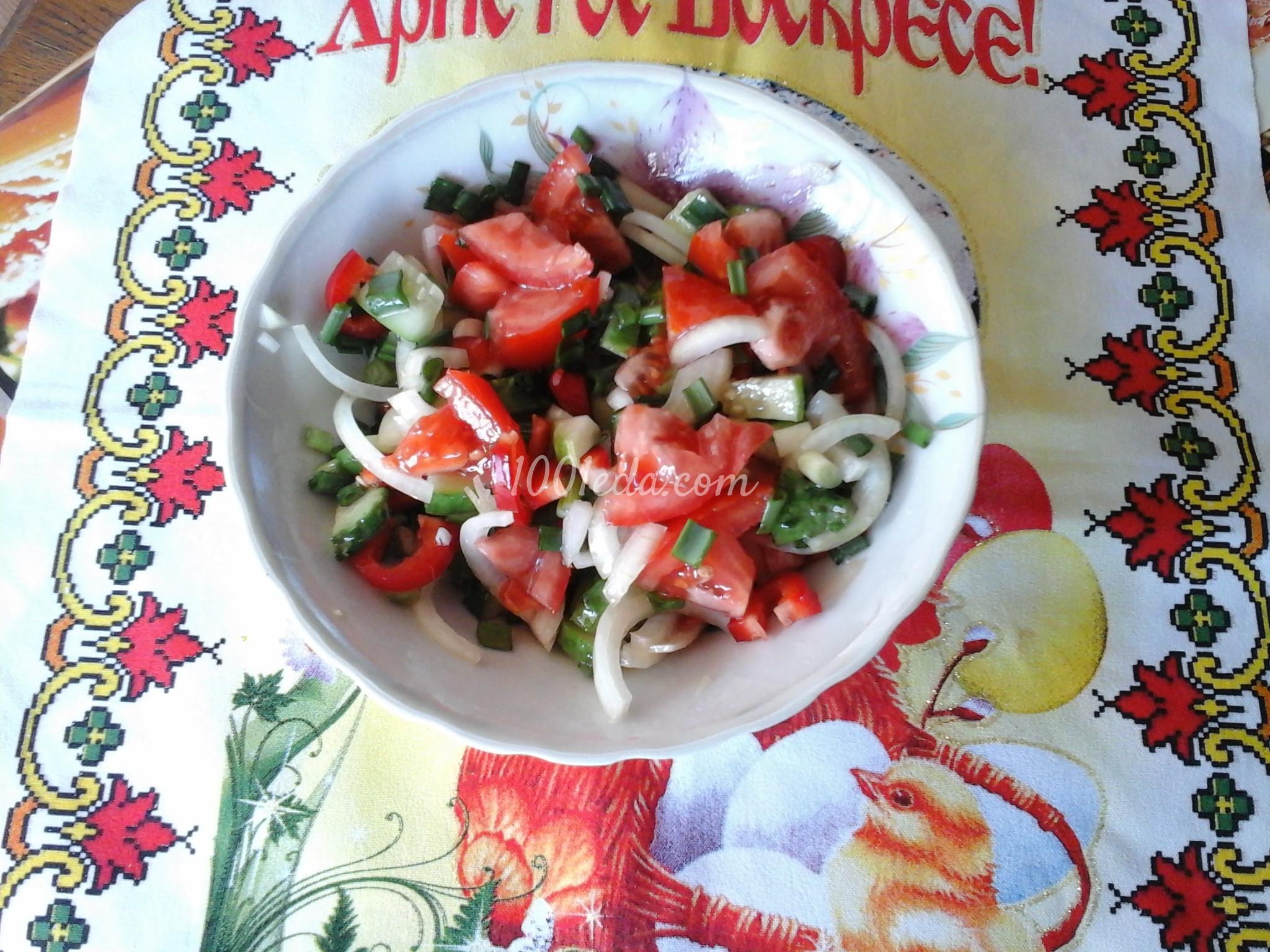 Салат овощной с салатным перцем