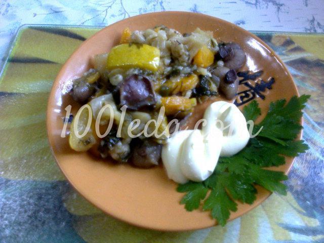 Закуска Овощное рагу с грибами в мультиварке для здорового питания
