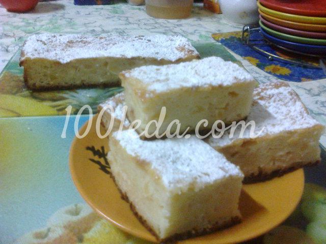 Пирог с творогом яблоками и манкой рецепт