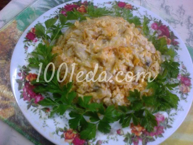 Салат рыбный простой рецепт