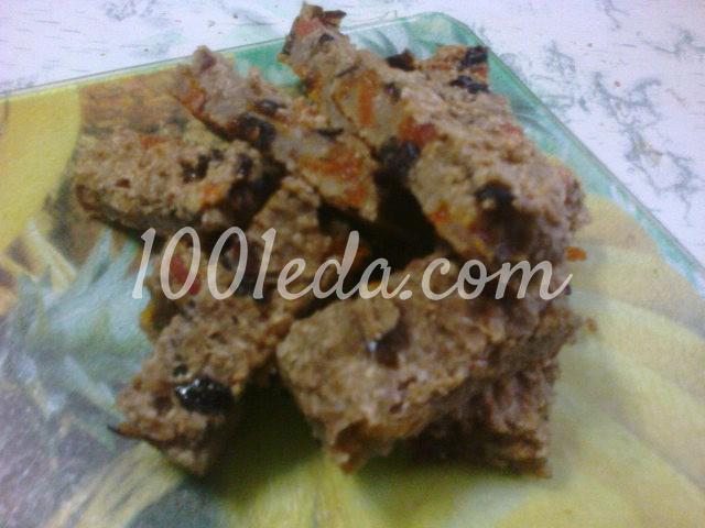 Диетические овсяно-яблочные батончики с сухофруктами и медом