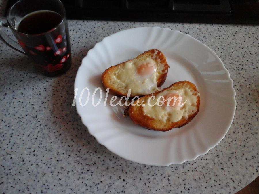 Гренки с яйцом к завтраку