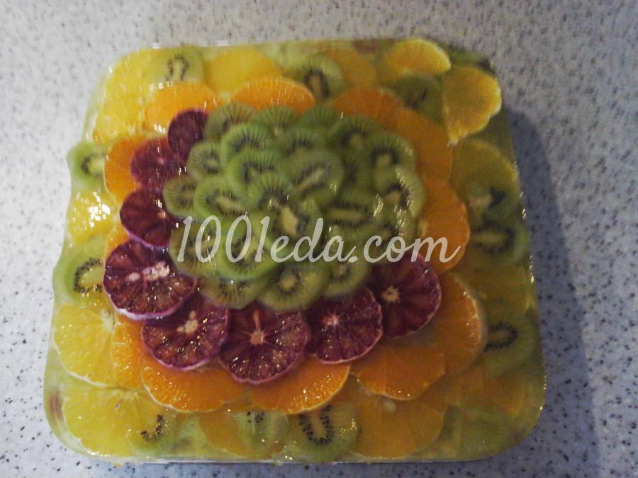 Торт бисквитный с желе