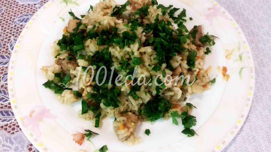 Нежный рис с мясом и овощами по-креольски в мультиварке