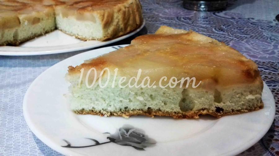 Простой и легкий пирог с грушами