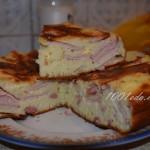 Пирог с сосисками, сыром и яйцом в мультиварке-скороварке