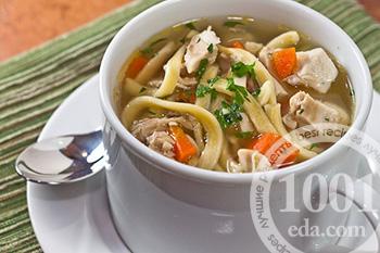 Суп из готовой лапши с курицей