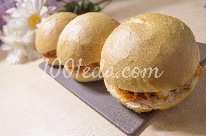 Гамбургер с котлетой по-домашнему: рецепт с пошаговым фото