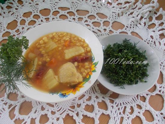 рецепт горохового супа с курицей и копченостями в мультиварке