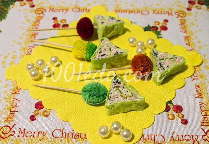Фаршированные яйца Новогодние елочки  рецепт
