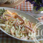 Салат из пекинской капусты с копчёной колбасой: рецепт с пошаговым фото