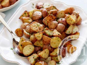 жареная картошка с грибами вареными